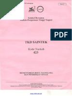TKD SAINTEK 2018 Kode 423 [Www.m4th-Lab.net]