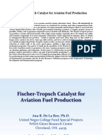 Fischer-Tropsch Catalyst for Aviation Fuel Production