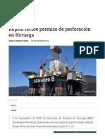 Repsol Recibe Permiso de Perforación en Noruega