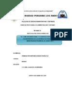 El Clima Organizacional y La Satisfaccion Laboral de Los Colaboradores de La Oficina de Defensa Civil de La Municipalidad Provincial de Satipo 2019