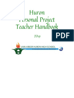 2019 teacher huron personal project handbook
