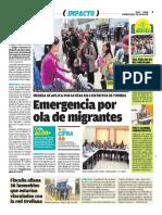 Emergencia Por Ola de Imigrantes - Ojo