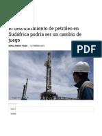 Descubrimiento de Petroleo en Sudáfrica