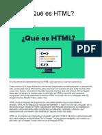 Qué es HTML