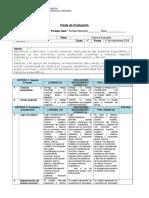 Pauta de Evaluacion Del Sistema Locomotor 11 de Septiembre
