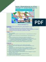 La Descentralización y Regionalización en El Perú