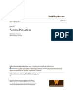 Plant Design of Acetone Production