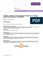 Stability Limitations and Analytical Evaluation of Voltage Droop Controllers for VSC MTDS