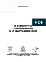 La hermeneutica como herramienta en la investigación social