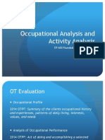 Analysis occupational