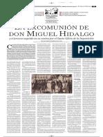 Ex Comunion  Miguel Hidalgo