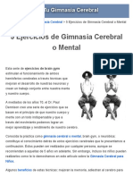 Ejercicios de Gimnasia Cerebral