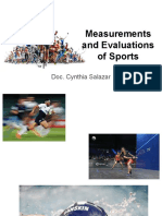 Measurements and Evaluations of Sports