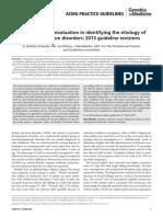 Austism Spectrum Genetics Evaluation