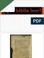 Qué Biblia Leer