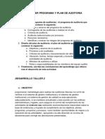Taller Programa y Plan de Auditoría Actividad 2