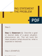 Writing Statement of the Problem