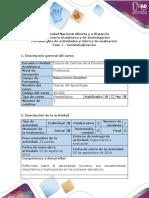 Guía de actividades y rúbrica de evaluación - Fase 1 - Contextualización