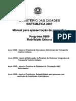 Manual Do Programa Mobilidade Urbana