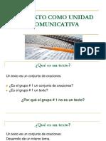 1 Texto Como Unidad Comunicativa-Presentación de Clase-TEMA 1 Para SIGA (1)