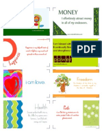 e Zine PDF Affirmation Cards