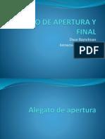 Alegato de Apertura y Final