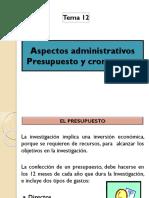 Clase 12. Aspectos administrativos y cronog..pptx