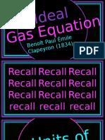 Ideal Gas Stoich Kmt