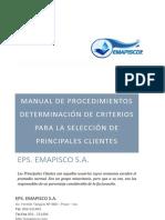 08. Manual de Procedimientos Criterios de Selección Principales Clientes_1