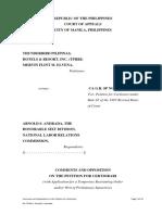 Comments and Oppostion to Tphri Thunderbird Certiorari