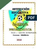 Carpeta Pedagogica Docente de Secundaria