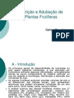 Nutrição e Adubação de Plantas Frutíferas
