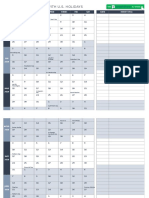 IC 2020 Weekly Calendar With US Holidays 8583