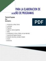 Formato Para La Elaboracion de Programas de Orientacion