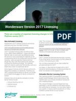 Wonderware Version 2017 Licensing