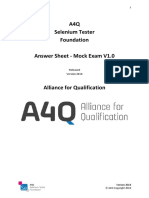 A4Q Selenium Tester Foundation Mock Exam V1-0 AnswerSheet