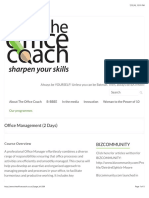 Office Management (2 Days) – the Office Coach