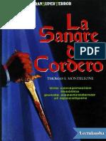 La Sangre Del Cordero - Thomas F Monteleone