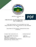 STUDY OF JUICES- ITC LTD