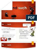 """""""So and such"""" PRESENTATION ENGLISH"""