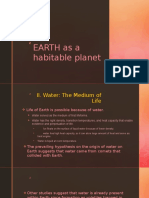 Earth as an Habitable Planet