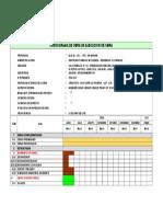Cronograma Ejecucion Obra -Residencial Los Parques-San Miguel