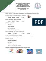 Grade 3 1st Periodical Test