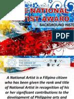 National Artist Background