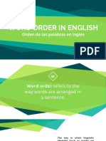 Word Order Presentation in English