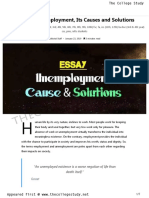 19 Essay on Unemployment Its Causes and Solutions the College Study