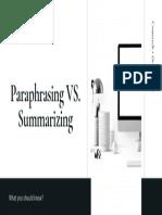 Paraphrasing PVS. Summarizing