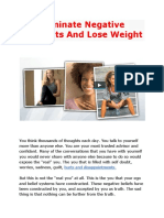 Eliminate Negative Thoughts And Lose Weight