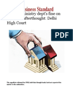 Finance Ministry Dept's Fine on Banks an Afterthought- Delhi High Court