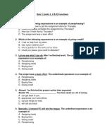 Quiz 1 (Units 1, 2 & 3) Functions E6F